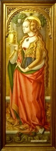 'Maria Magdalena', altar piece by Carlo Crivelli (ca.1485 AD) in Rijksmuseum Amsterdam