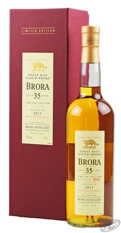 The 12th release of Brora from Diageo's Annual Special Releases, this was distilled in 1978 and has been bottled at 35 years of age. This is a mix of refill American Oak and European Oak casks and is a return to the much loved, earthier character of earlier releases. Bottler Distillery Bottling Age 35 Year Old Vintage 1978 Bottling Date 2013 No of Bottles 2944 Country Scotland Region Highland £899