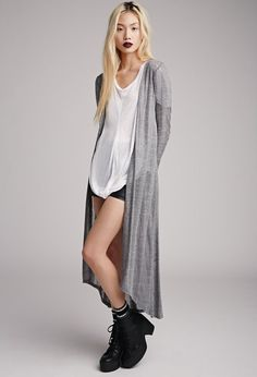 Open-Knit Maxi Cardigan | FOREVER21 - 2000055922