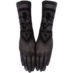 Gothic Beauty Black Rose Victorian Lace Gloves Gothic Evening Wear ❤ liked on Polyvore featuring accessories, gloves, victorian gloves, goth gloves, rose gloves, gothic gloves and lace gloves