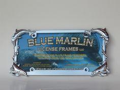 License Plate Frame Blue Marlin Frame On Amazon Com 19