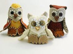 #Owl Stuffed Animals  Felt  #Woodland Critters  by BessiesCreations, $25.00