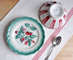 Vintage French Plates by petits détails, via Flickr