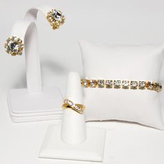 1980s Hollywood Glamour Vintage Rhinestone Set by StagingGraces, $34.00