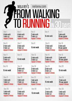 De andar a correr en 30 días.