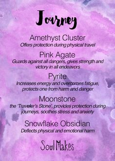 Journey Stones meanings - New age metaphysical healing crystals by SoulMakes
