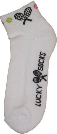 """K Bell Ladies Tennis Socks - """"Lucky Socks"""" (White, Black, Lime & Pink) Tennis Socks, Tennis Accessories, Golf Outfit, Ladies Golf, Golf Shoes, Golf Bags, Skort, Lime, Clothes For Women"""