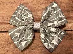 Gray & White Arrow Bow