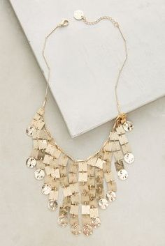 60% OFF ANTHRO Gilded Cascade Bib Necklace