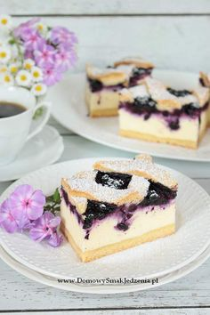 sernik z jagodami | Domowy Smak Jedzenia .pl Homemade Cakes, Cheesecakes, Blueberry, Good Food, Food And Drink, Easy, Cook, Recipes, Berry