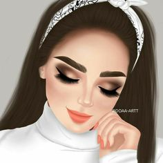 Girl Cartoon Characters, Cartoon Girl Images, Cute Cartoon Girl, Girl Drawing Sketches, Girly Drawings, Art Drawings For Kids, Beautiful Girl Drawing, Cute Girl Drawing, Sarra Art