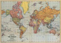 Amazon.com: Cavallini & Co. World Map Decorative Wrapping Paper 20x28: Health & Personal Care