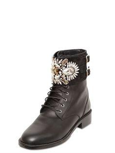 40mm Swarovski & Leather Boots