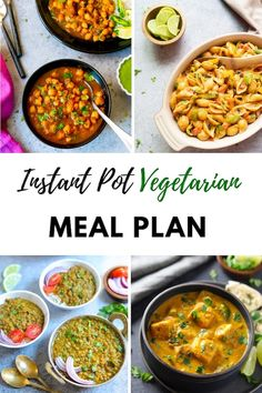 Vegetarian Instant Pot Meal Plan for a Month!Eat healthy home cooked meals by planning your meals with this Vegetarian Instant Pot Meal Plan. Main dishes for each day of the month, along with sides and dessert options. Healthy Vegetarian Lasagna, Eat Healthy, Vegetarian One Pot Meals, Vegetarian Sandwiches, Dessert Healthy, Going Vegetarian, Vegetarian Breakfast, Vegetarian Cooking, Easy Cooking