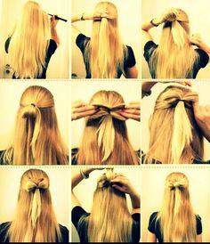 Peinado/ paso a paso/ cabello/ rubia