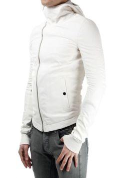 RICK OWENS 100% lambskin jacket (art. RU 14S1766/LGI BULLT 11 MILK)