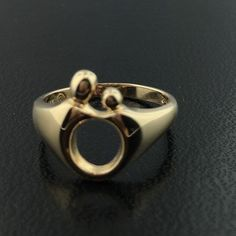 14k yellow gold Mother & Child ring in Jewelry & Watches, Fine Jewelry, Fine Rings | eBay