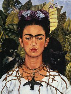 freda kahlo | Self-Portrait with Thorn Necklace and Hummingbird : Frida Kahlo ...