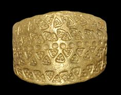 Viking Gold Ring with Stamped Triangles, 9th-11th Century AD