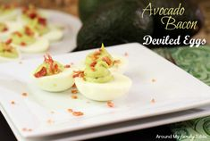 Love avocados? These Avocado Bacon Deviled Eggs are so good and the great twist on traditional deviled eggs. Perfect for Easter, picnics, potlucks, & more.