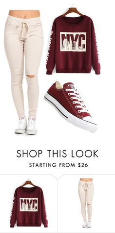 """""""Untitled #148"""" by e220012c ❤ liked on Polyvore featuring moda, Converse, women's clothing, women, female, woman, misses e juniors"""