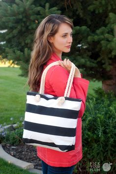For the Bag That Runneth Over - Canvas Bag with Rope Handle #canvasbag pickyourplum.com