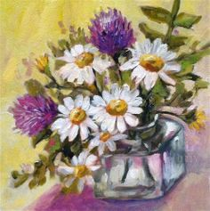 "Daily Paintworks - ""A Little Daisy"" by Libby Anderson"