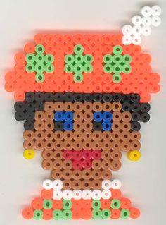 strijkkralen patroon van Zwarte Piet