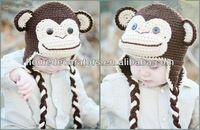 Source monkey design handmade crochet baby hat on m.alibaba.com