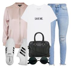"""Sin título #12534"" by vany-alvarado ❤ liked on Polyvore featuring Topshop, adidas and Givenchy"