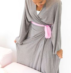 DIY: cotton jersey robe from a bedsheet