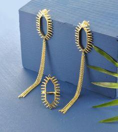 Image of Temple Tassel Earrings in Gold