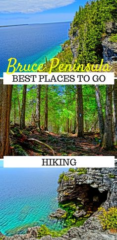 Best Places to go Hiking on the Bruce Peninsula ⋆ The World As I See It - The Bruce Peninsula is one of Ontario's best hiking destinations. From cliff top trails to scenic - Europe Destinations, Go Hiking, Hiking Trails, Tahiti, Bruce Peninsula, Places To Travel, Places To Visit, Hiking Places, Ontario Travel