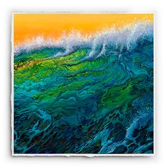 Surge by #RickRietveld. This signature print is available for $125 unframed, or $295 for a black satin or bamboo frame. #SurfArt