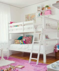 Girl Room Ideas With Bunk Beds