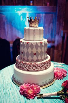 Awesome cake with a tiara on top!