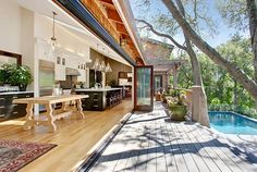 Amazing Deck Updates for Summer Love the wall of doors that opens up to the great outdoors!!!