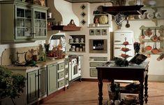 decoracion cocinas country pequeñas - Buscar con Google