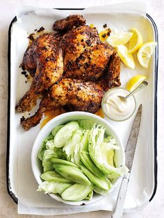 This speedy salt, pepper and chilli roasted chicken is an amazingly flavoured roast chicken in a fraction of the time, using some of my favourite pantry staples. Roast Chicken Recipes, Roasted Chicken, Spicy Roast Chicken, Butterflied Chicken, Spatchcock Chicken, Sunday Roast Chicken Dinner, Roast Dinner, Chicken Chili, Rotisserie Chicken