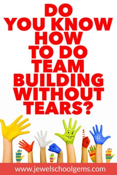 Have your experiences with team building been less than inspiring? Well, you can dig in your heels and get ready to take these actionable steps. Icebreaker Activities, Stem Activities, Activities For Kids, Classroom Activities, Teacher Blogs, Teacher Resources, Teacher Stuff, Team Building Skills, Team Challenges