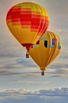 Yellow Hot Air Balloons