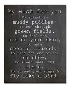 """My Wish For You"" Nursery Art Chalkboard Typography Print, Perfect Christening, Bapstism or New Baby Gift, Source by Related posts: Baby Quotes – Newborn Quote Now Quotes, Quotes For Kids, Family Quotes, Great Quotes, Quotes To Live By, Inspirational Quotes, Quotes Children, New Baby Quotes, Quotes About Babies"