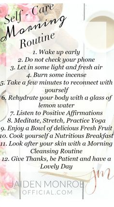 Strength Quotes : Self -Care Morning Routine Self Care Routine, Healthy Mind, Self Development, Personal Development, Better Life, Self Improvement, Self Help, Happy Life, Self Love