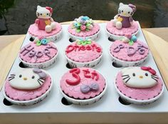 Hellokitty cupcakes for a friend's daughter..