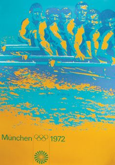 1972 Munich Olympic Games poster by Otl Aicher