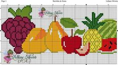Cross Stitch Music, Cross Stitch Fruit, Cross Stitch Kitchen, Cross Stitch Flowers, Cross Stitching, Cross Stitch Embroidery, Hand Embroidery, Crochet Borders, Crochet Patterns