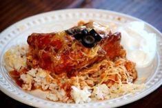 Enchilada Chicken over Rice (E) Slow Cooker Meal