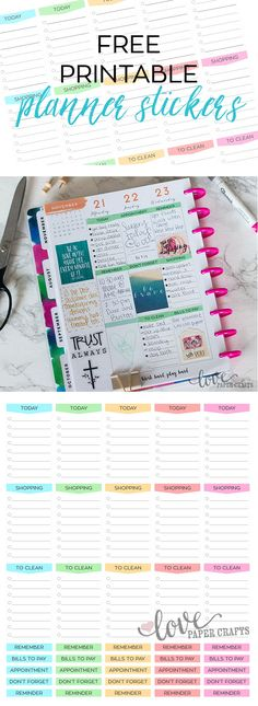 Free Printable Functional Planner Stickers | LovePaperCrafts.com