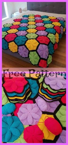 Newest Screen Granny Squares Crochet hexagon Tips Get motivated to get Gran Block Day time 2019 with 16 must-hook makes.Whether you are new to crochet Hexagon Crochet Pattern, Crochet Hexagon Blanket, Crochet Squares, Crochet Motif, Free Pattern, Crochet Afghans, Afghan Crochet Patterns, Crochet Blankets, Baby Blankets
