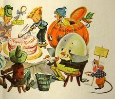Vintage Greetings Card Lots of Nursery Rhyme by vintagevic on Etsy, £4.99